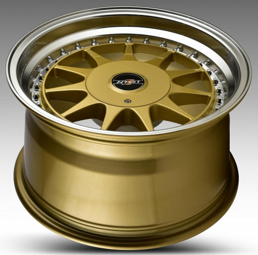 HTG 1 Felgen 7x16 + 9x16Zoll 4x100 4x108 mit Tüvteilegutachten Gold