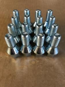 Radschrauben M12x1,5x24 60Grad Kegelbund Silber