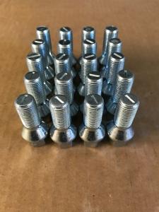 Radschrauben M14x1,5x28 60Grad Kegelbund Silber