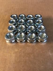 Radmuttern M12x1,5 offene Mutter Silber