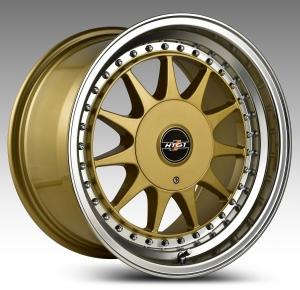 HTG 1 Felgen 8,5x17Zoll ET30 4x100 4x108 mit Tüvteilegutachten Gold
