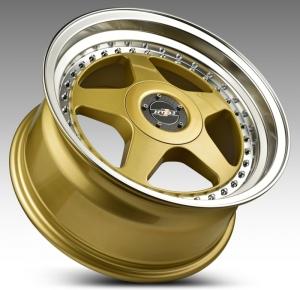 HTG 3 Felgen 7,5 + 8,5 x17 5x100/5x112 Gold mit Tüvteilegutachten