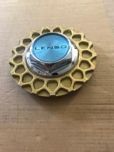 Lenso BSX Zentralmutter Kunsstoff mit Wabe in Gold