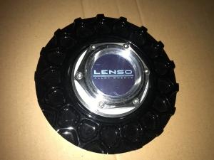 Lenso BSX Zentralmutter Aluminium mit Wabe in Schwarz
